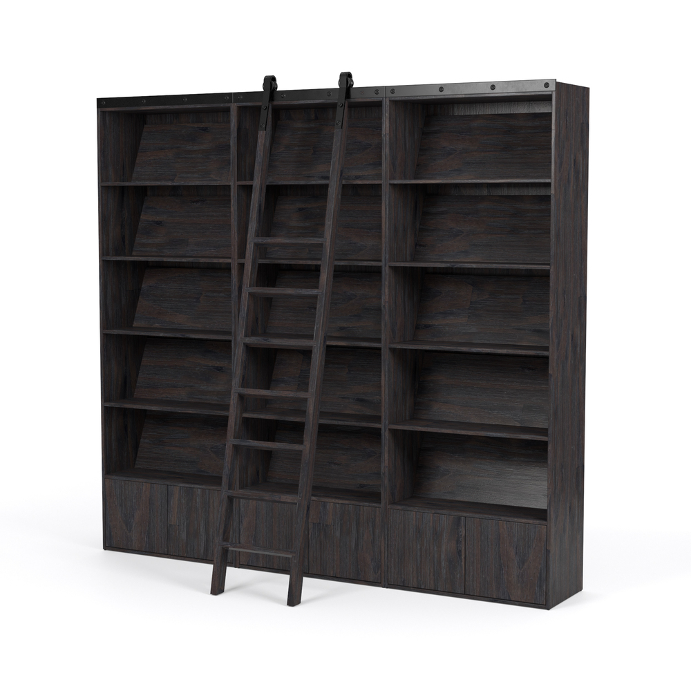 Four Hands - Bane Triple Bookshelf with Ladder