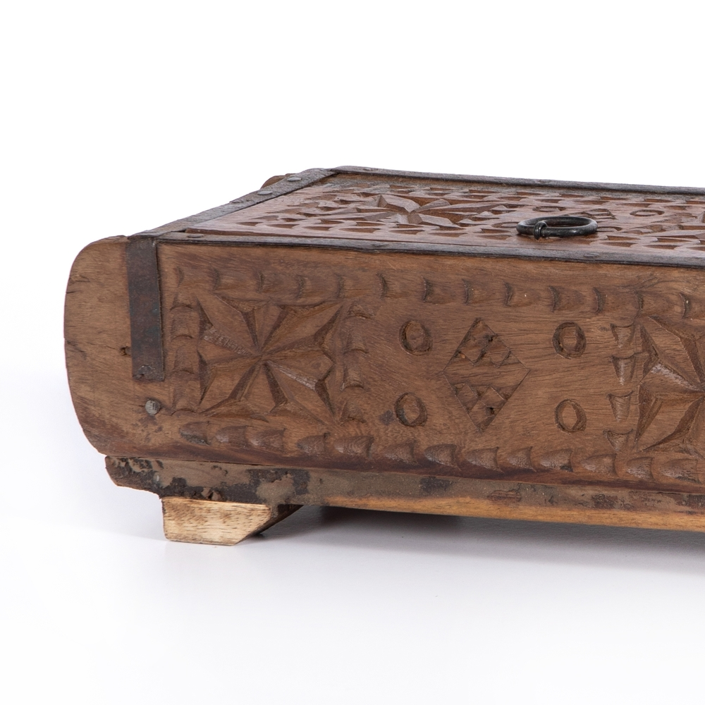 Four Hands - Found Carved Box