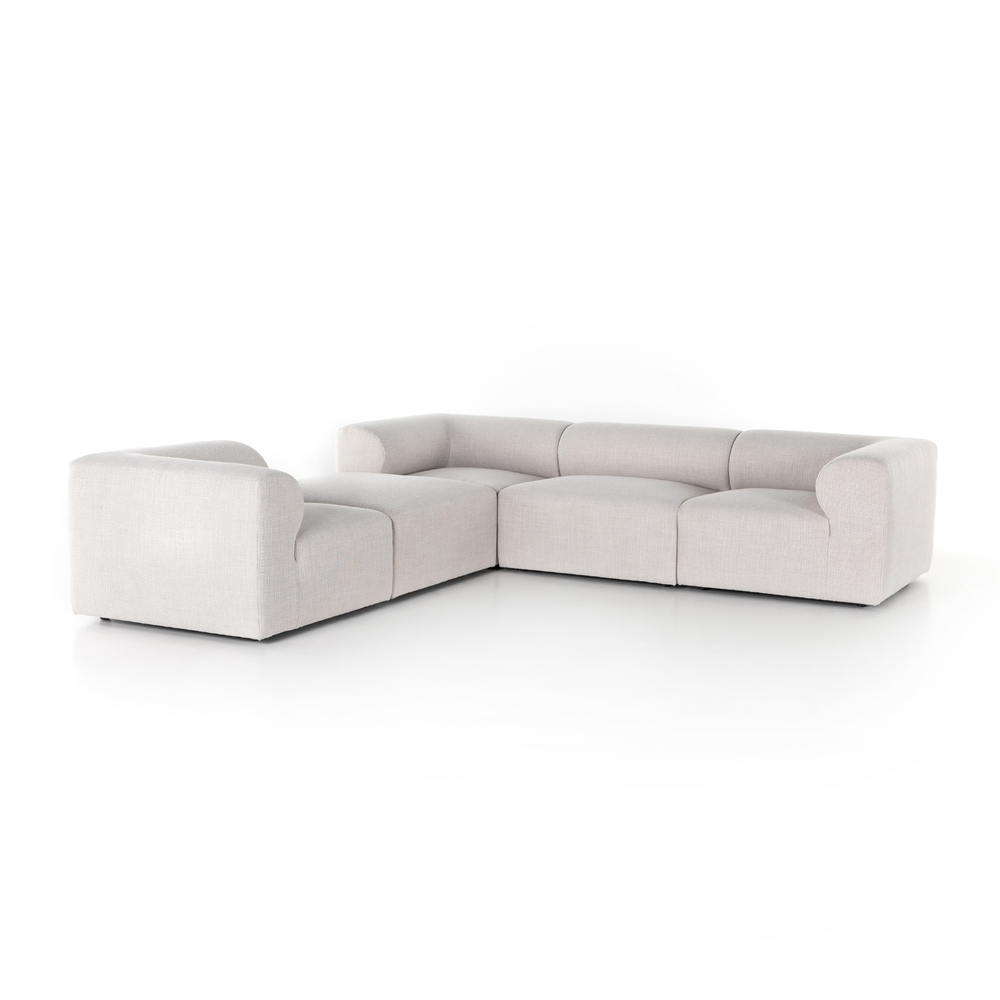 Four Hands - Collins Sectional with Ottoman, Four Piece