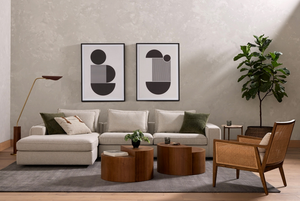 Four Hands - Pierce Sectional Left Arm Facing Chaise, 2 Piece