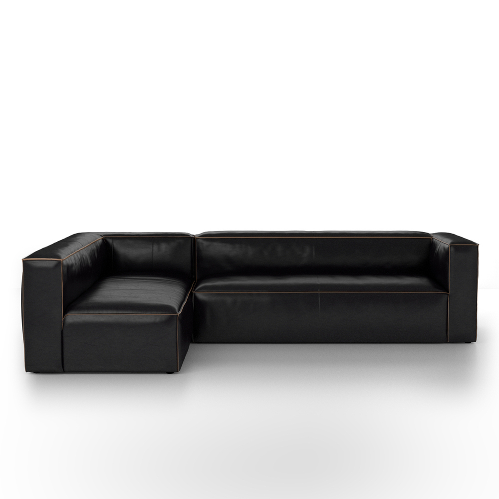 Four Hands - Nolita Sectional Right Rider Black Kit