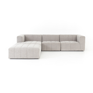 Thumbnail of Four Hands - Langham Channeled Three Piece Left Arm Facing Sectional with Ottoman