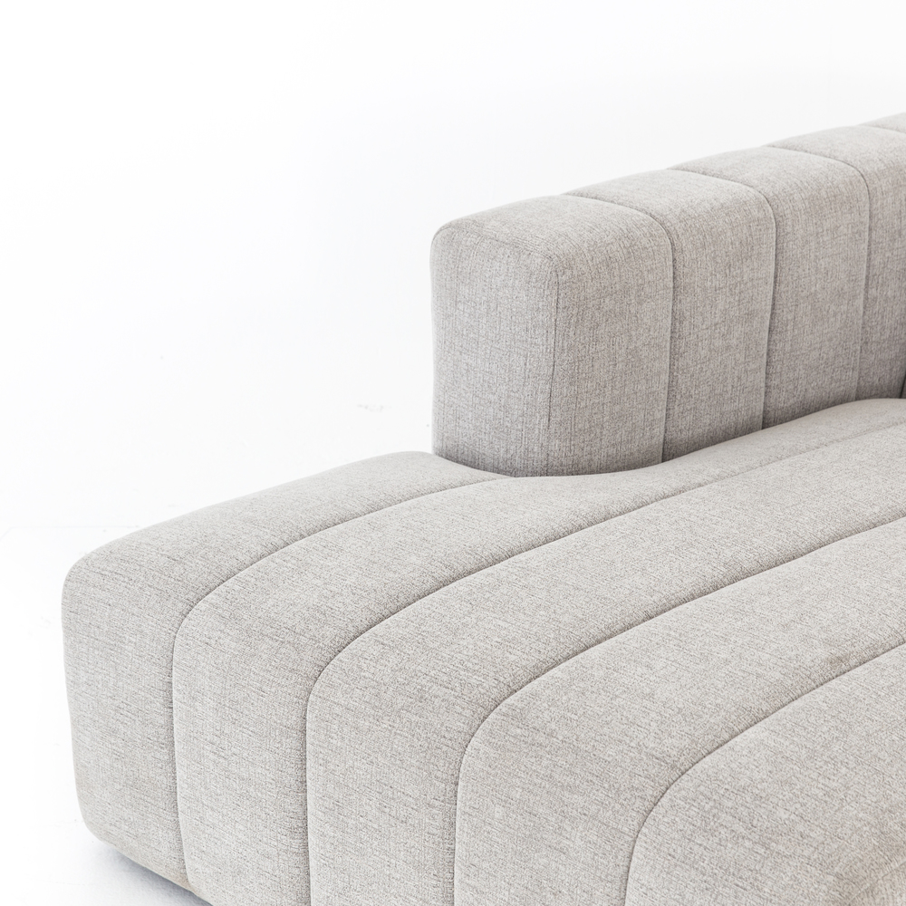 Four Hands - Langham Channeled Three Piece Left Arm Facing Sectional with Ottoman