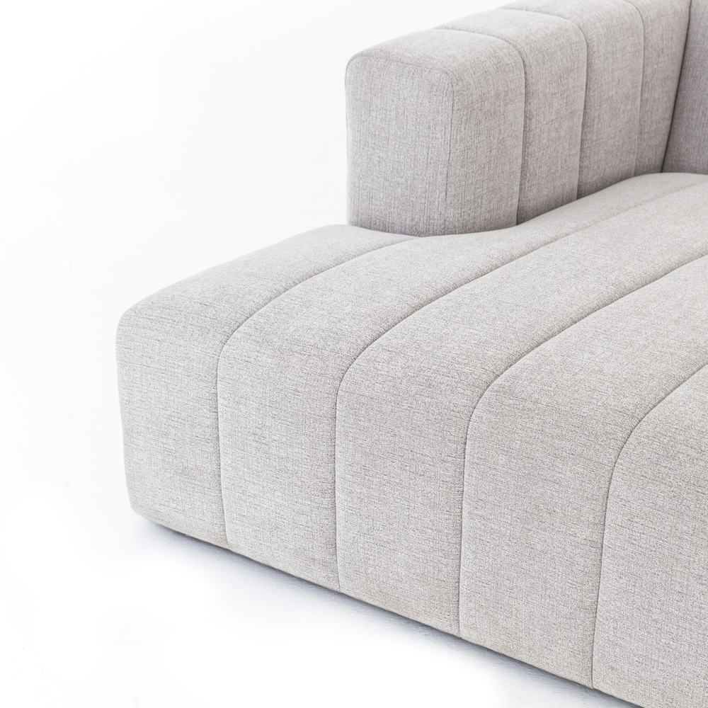 Four Hands - Langham Channeled Three Piece Right Arm Facing Sectional with Ottoman