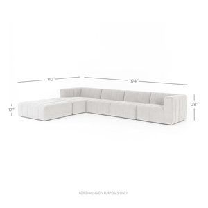 Thumbnail of Four Hands - Langham Channeled Four Piece Left Arm Facing Sectional