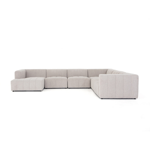 Thumbnail of Four Hands - Langham Channeled Six Piece Sectional with Left Arm Facing Chaise
