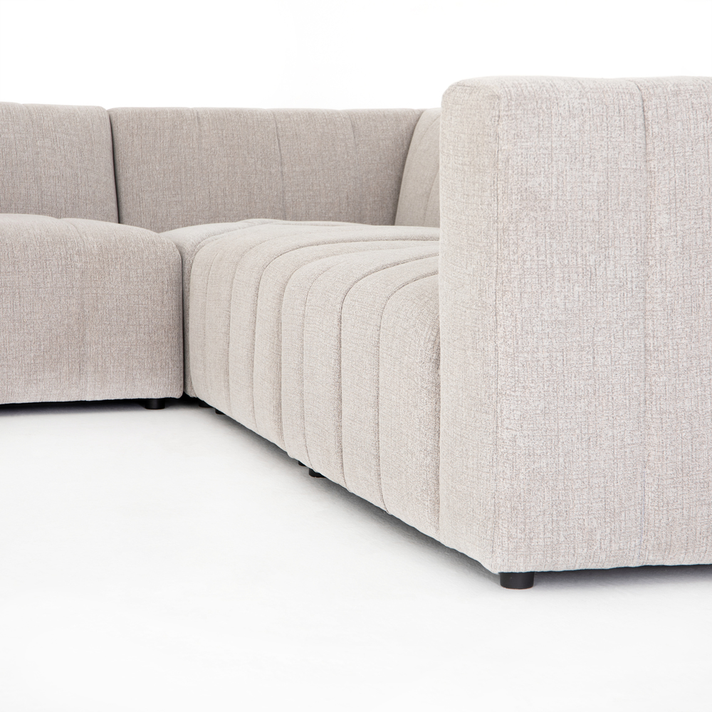 Four Hands - Langham Channeled Six Piece Sectional with Left Arm Facing Chaise