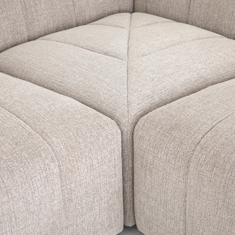 Four Hands - Langham Channeled Five Piece Sectional with Left Arm Facing Chaise