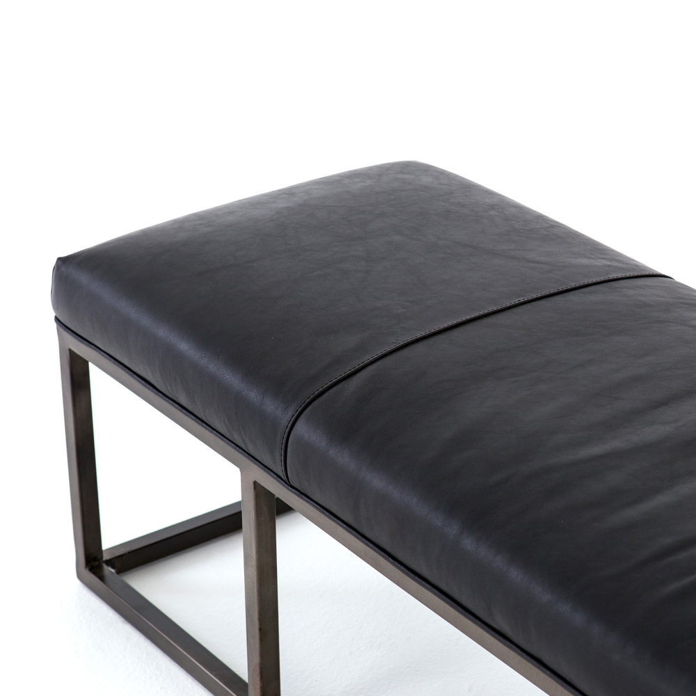 Four Hands - Beaumont Leather Bench
