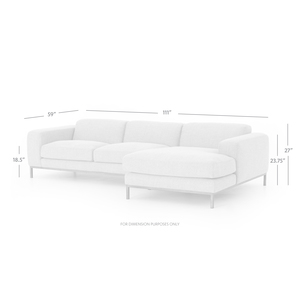 Thumbnail of Four Hands - Benedict Two Piece Sectional with Right Arm Facing Chaise