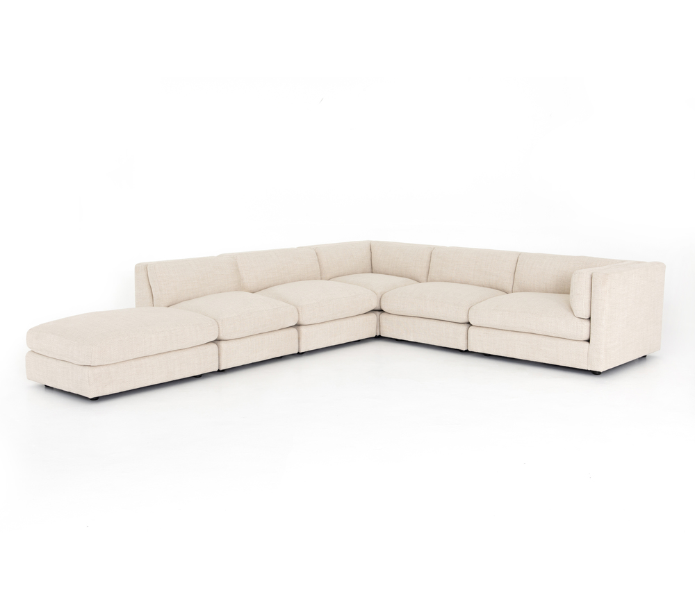 Four Hands - Cosette Five Piece Right Arm Facing Sectional with Ottoman