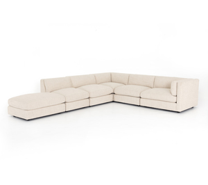 Thumbnail of Four Hands - Cosette Five Piece Right Arm Facing Sectional with Ottoman