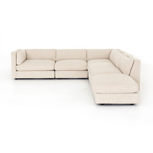 Thumbnail of Four Hands - Cosette Five Piece Left Arm Facing Sectional with Ottoman