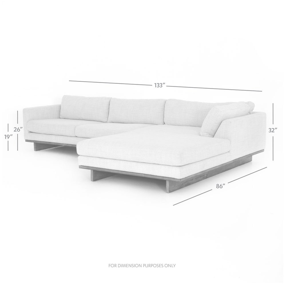 Four Hands - Everly Two Piece Sectional Right Arm Facing Chaise