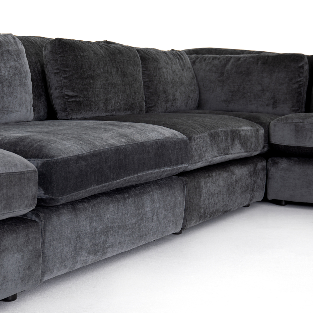 Four Hands - Bloor Five Piece Left Arm Facing Sectional with Ottoman