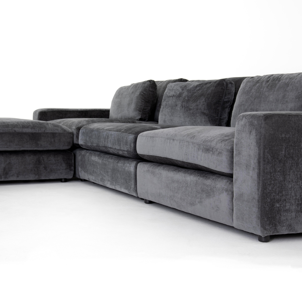 Four Hands - Bloor Three Piece Sectional with Ottoman