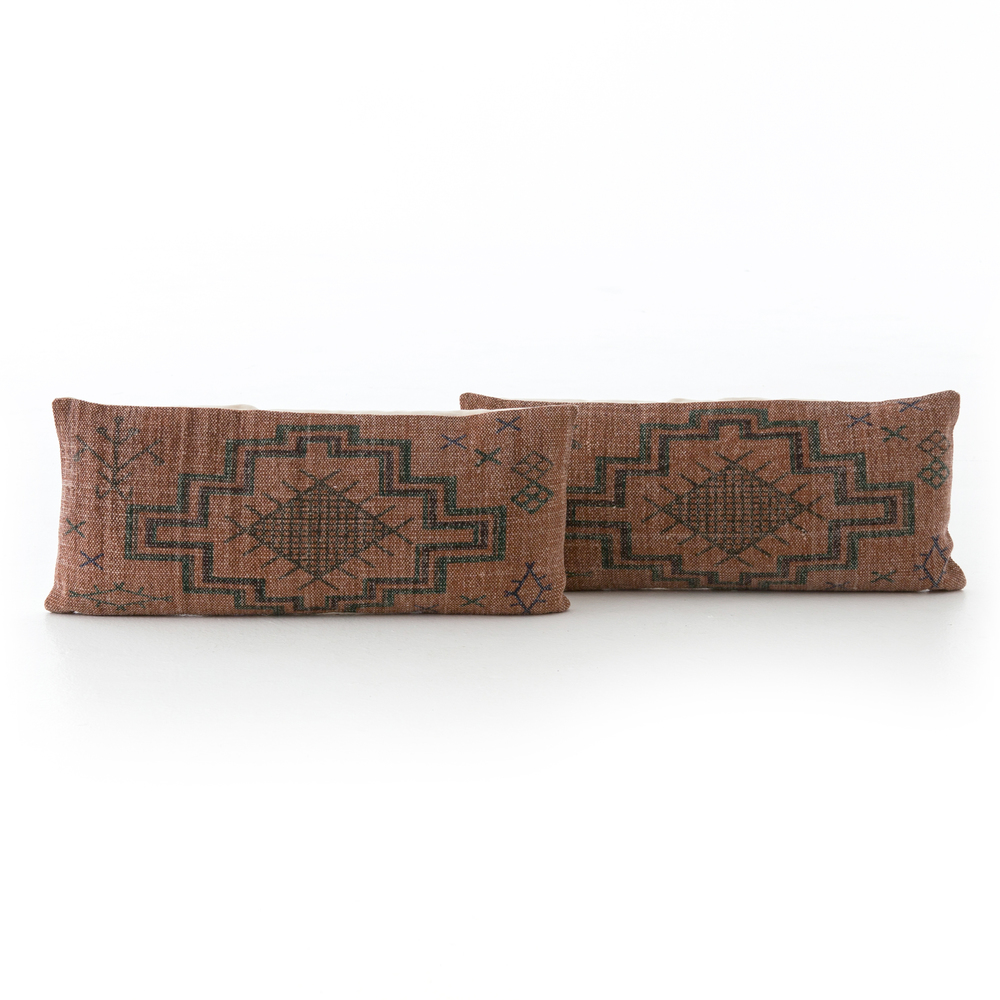 Four Hands - Tribal Rust Lumbar Pillow, Set/2
