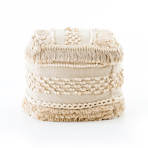 Thumbnail of Four Hands - Braided Fringe Pouf