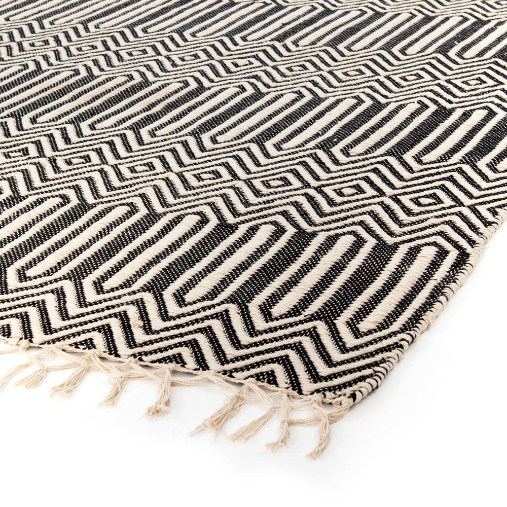 Four Hands - Black Cotton Woven Rug