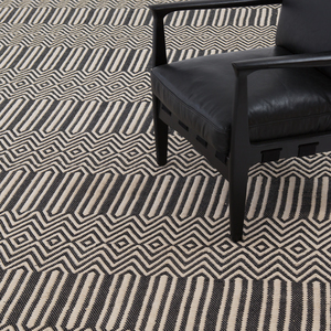 Thumbnail of Four Hands - Black Cotton Woven Rug