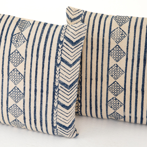 Thumbnail of Four Hands - Faded Blue Diamond Pillow, Set of 2