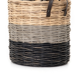 Thumbnail of Four Hands - Ember Striped Baskets, Set/3
