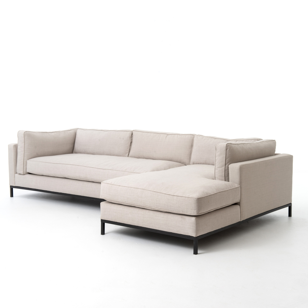 Four Hands - Grammercy Two Piece Sectional with Right Arm Facing Chaise