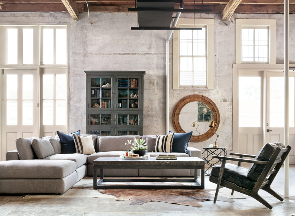 Four Hands - Bloor Four Piece Sectional with Ottoman