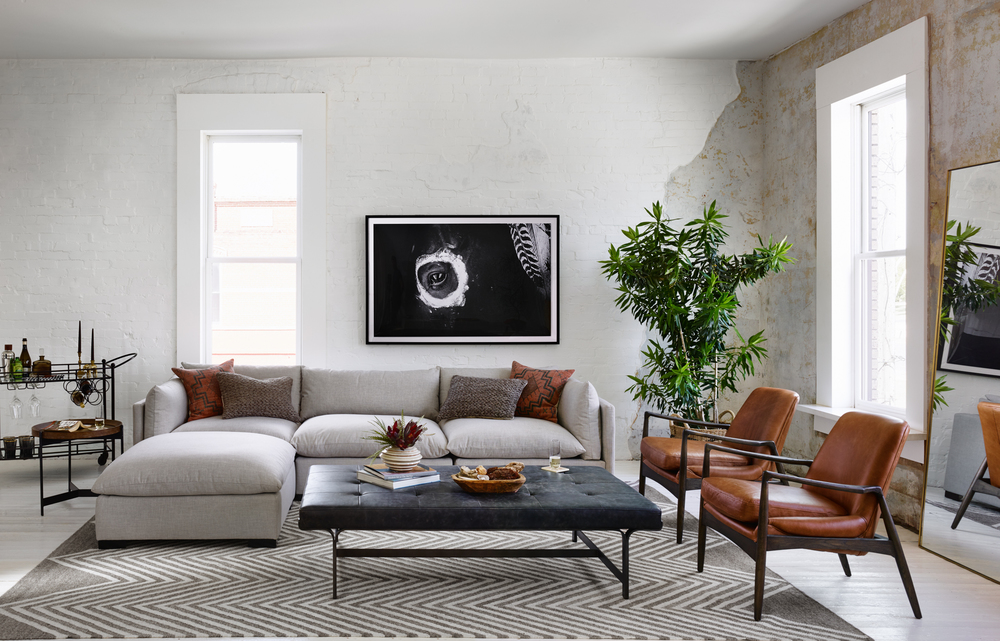 Four Hands - Westwood Three Piece Sectional with Ottoman