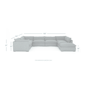 Thumbnail of Four Hands - Westwood Seven Piece Sectional with Ottoman