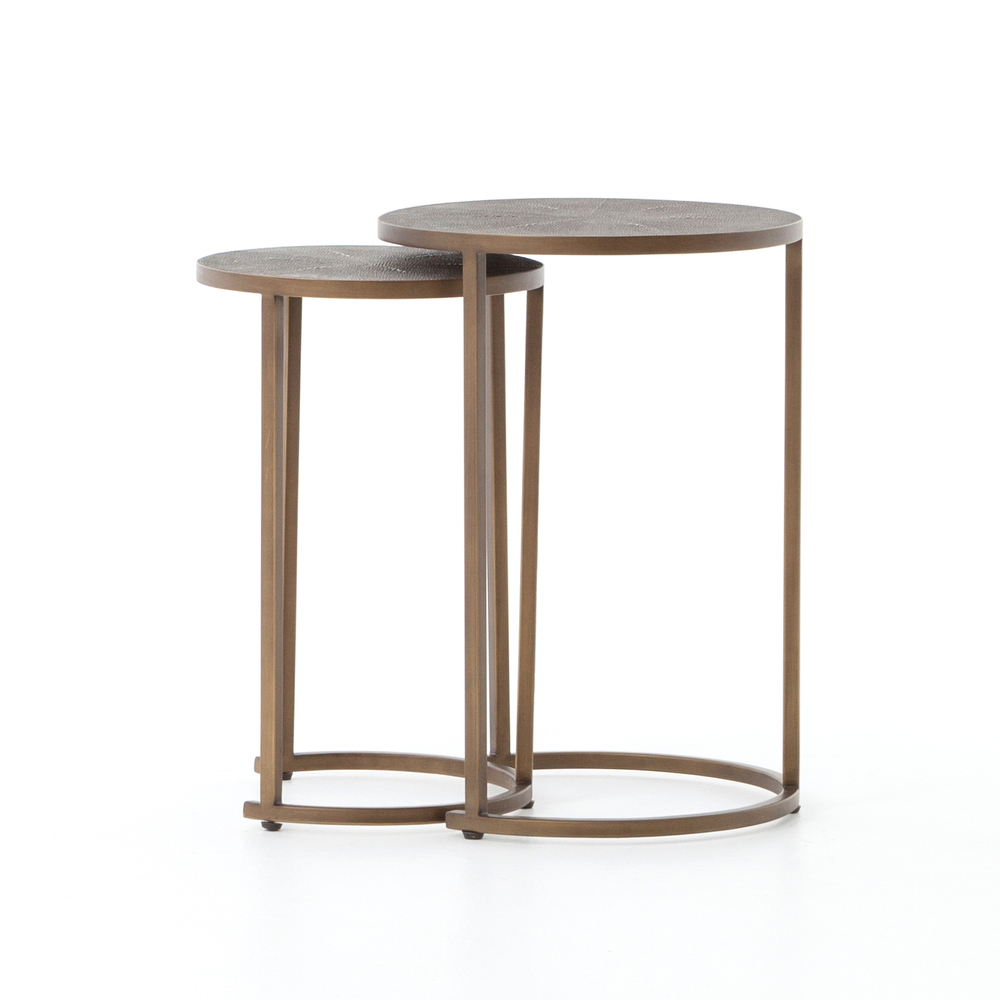 Four Hands - Shagreen Nesting Table