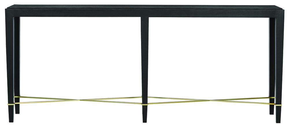 Currey & Company - Verona Black Console Table