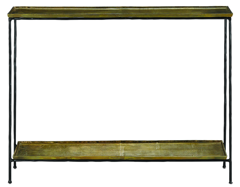 Currey & Company - Boyles Brass Console Table