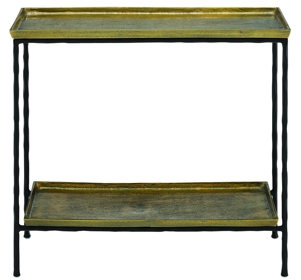 Currey & Company - Boyles Brass Side Table
