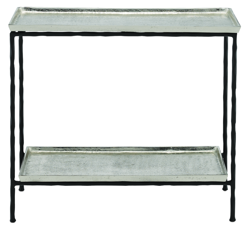 Currey & Company - Boyles Silver Side Table