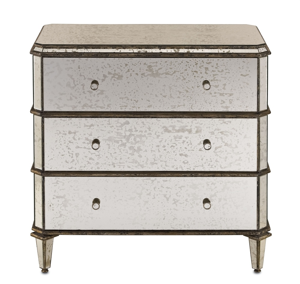 Currey & Company - Antiqued Mirror Chest