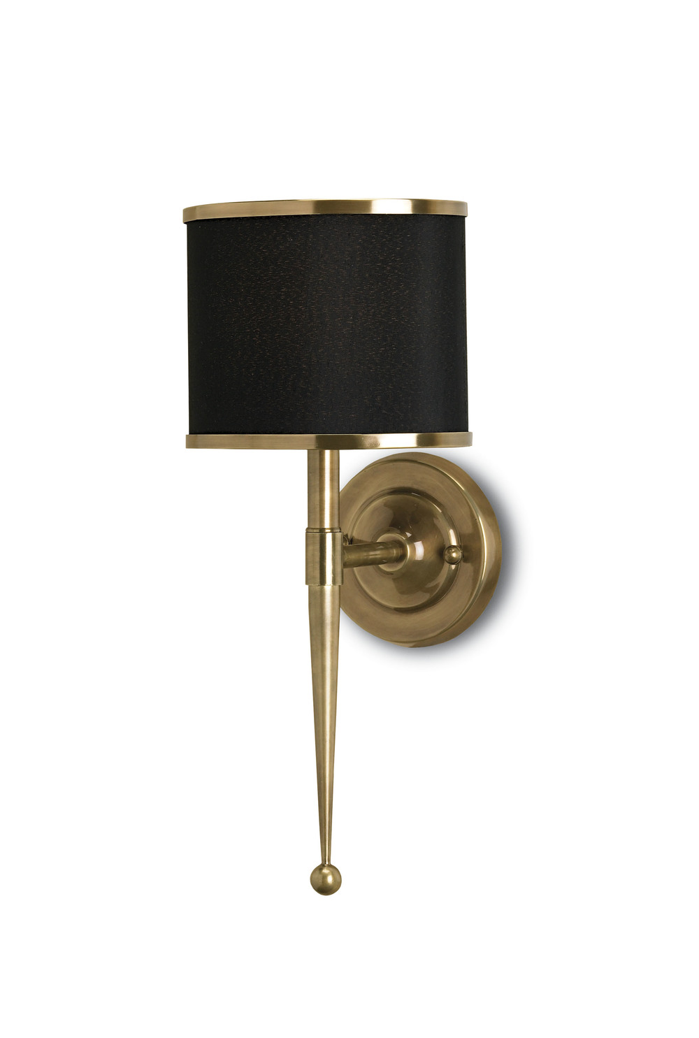 Currey & Company - Primo Black Brass Wall Sconce