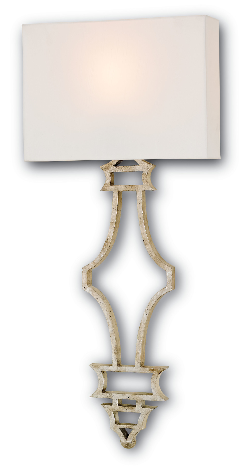 Currey & Company - Eternity Silver Wall Sconce