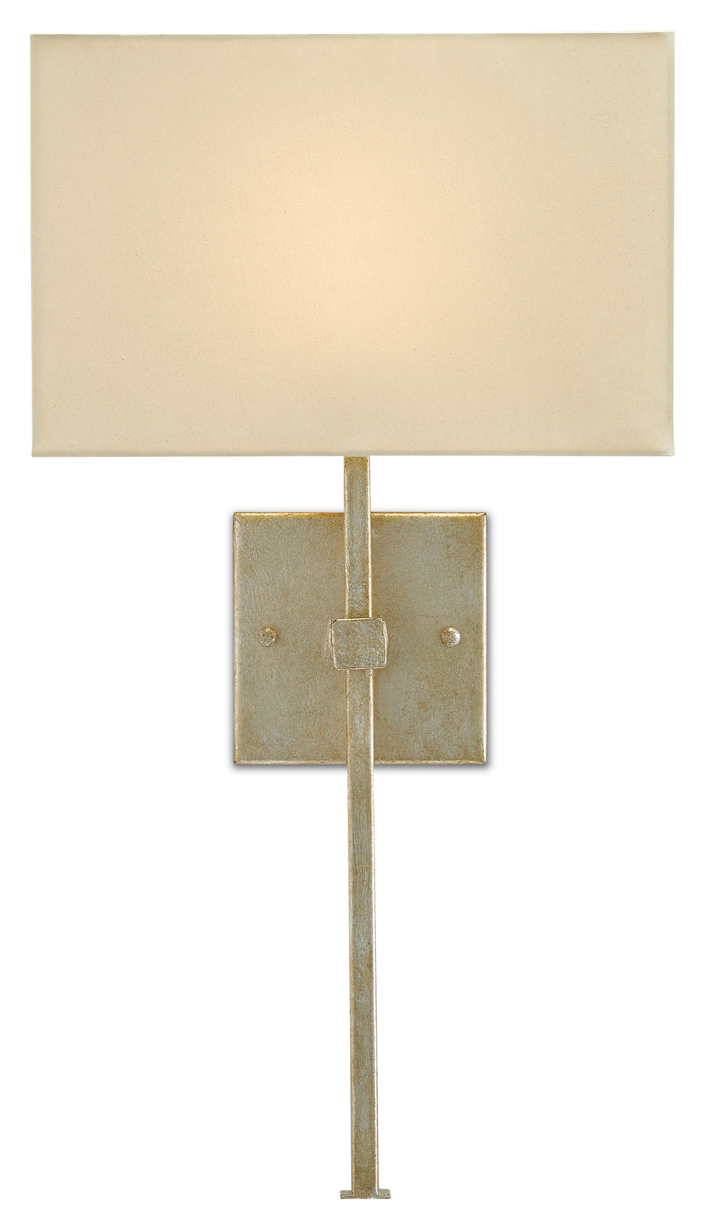 Currey & Company - Ashdown Silver Wall Sconce