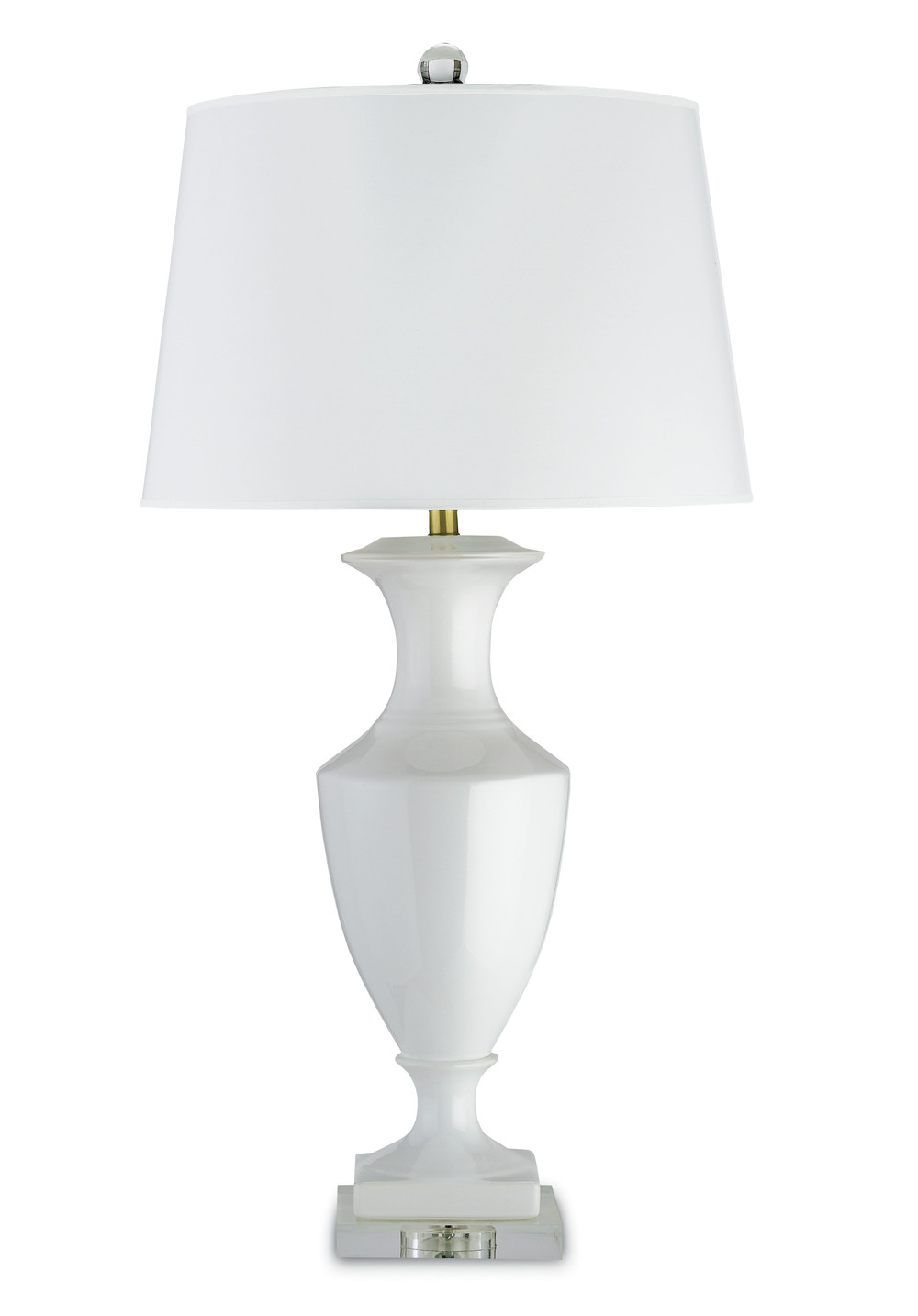 Currey & Company - Timeless White Table Lamp