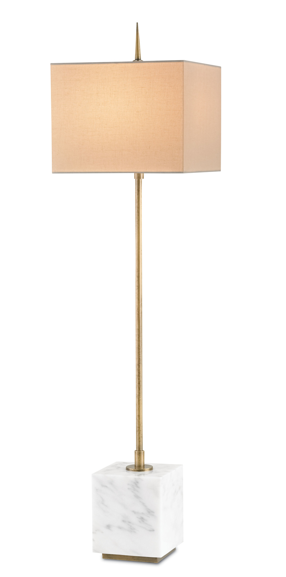 Currey & Company - Thompson White Console Lamp