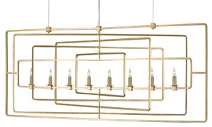Thumbnail of Currey & Company - Metro Gold Rectangular Chandelier