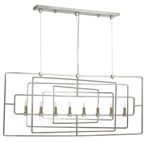 Thumbnail of Currey & Company - Metro Silver Rectangular Chandelier