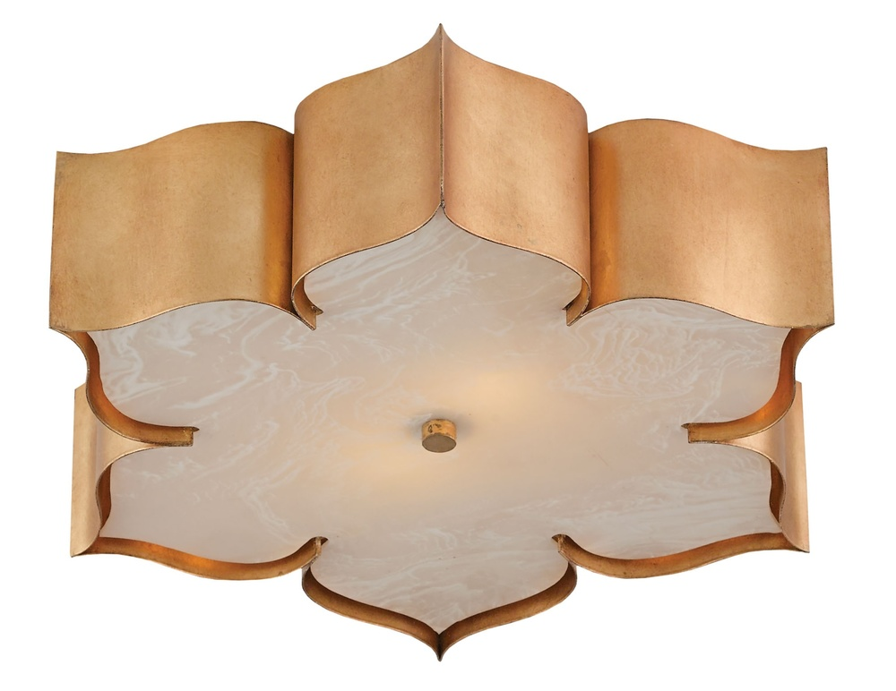 Currey & Company - Grand Lotus Gold Flush Mount
