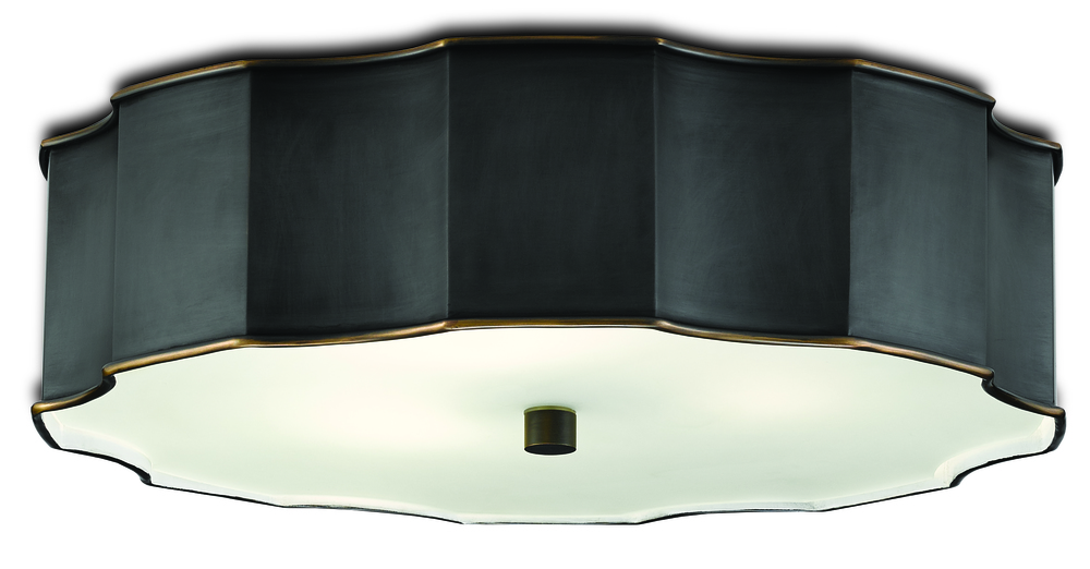 Currey & Company - Wexford Bronze Flush Mount