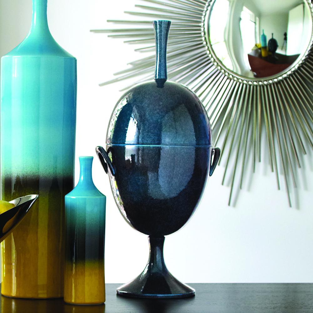 GLOBAL VIEWS - Ovoid Jar with Handle, Celestial