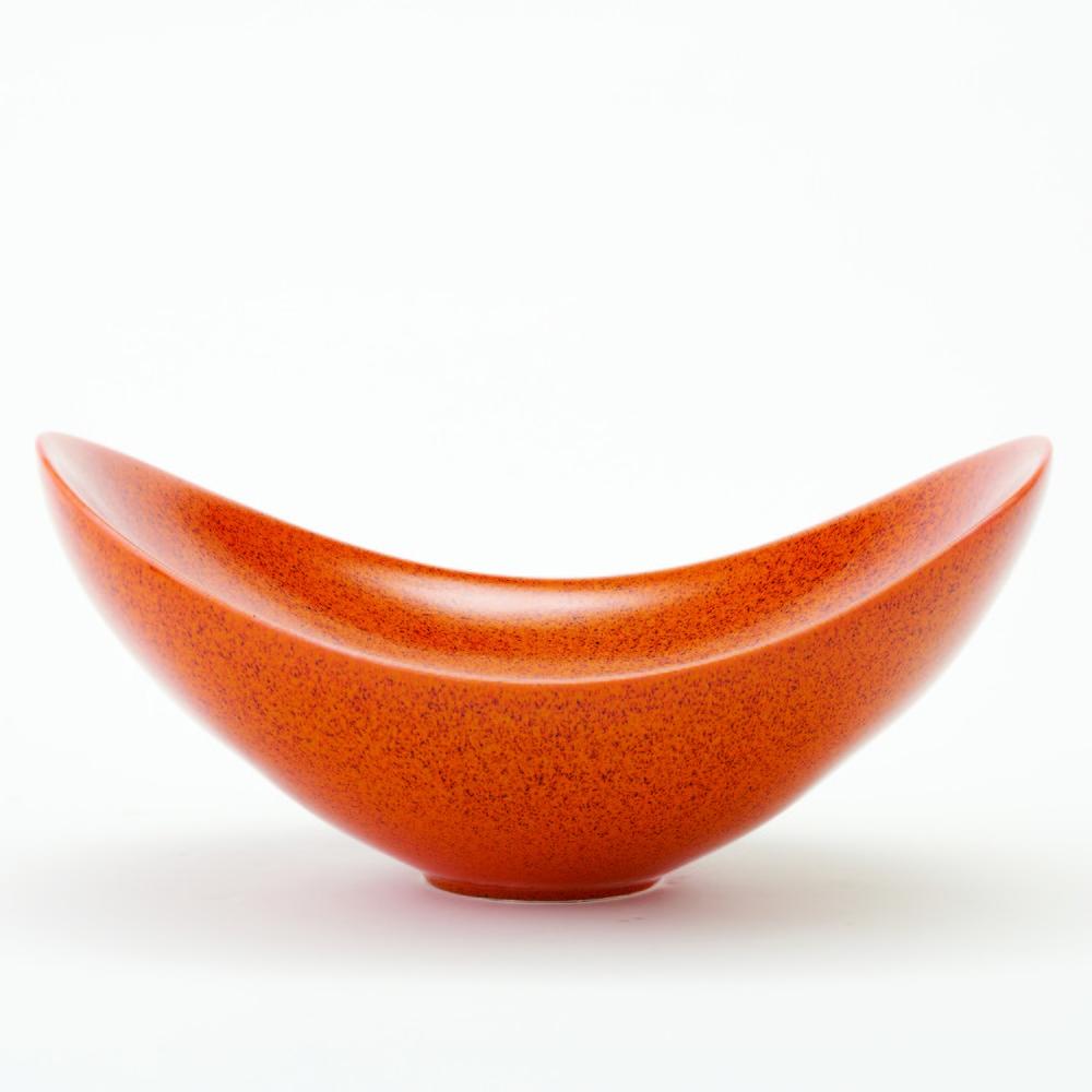 Global Views - Orange Swoop Bowl