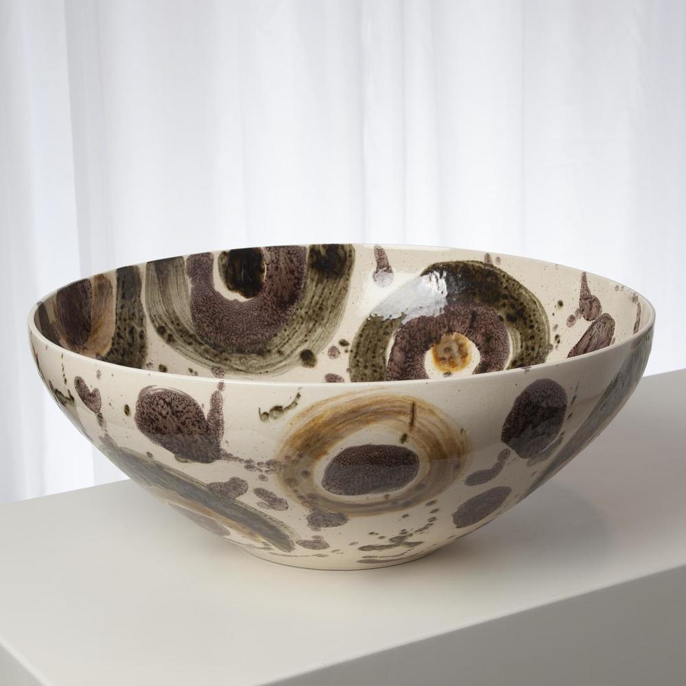 Global Views - Earth Tone Spots Bowl