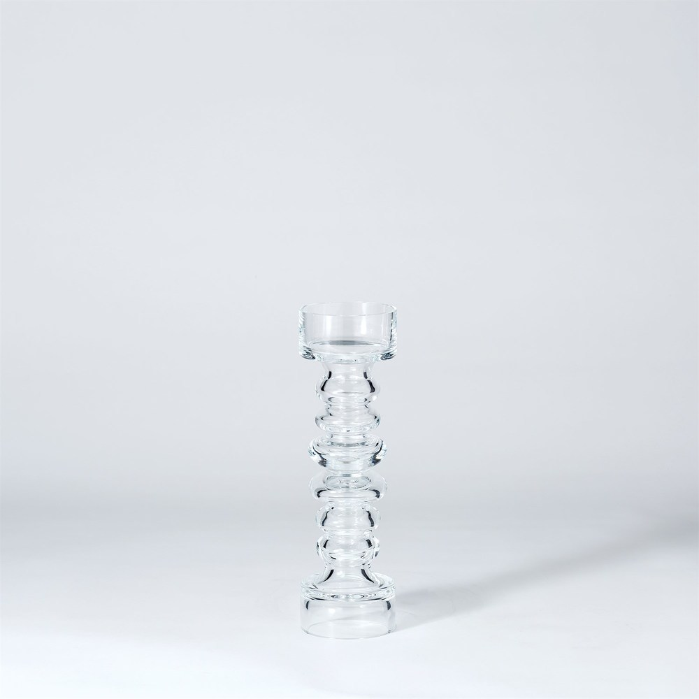 Global Views - Glass Ribbed Candle