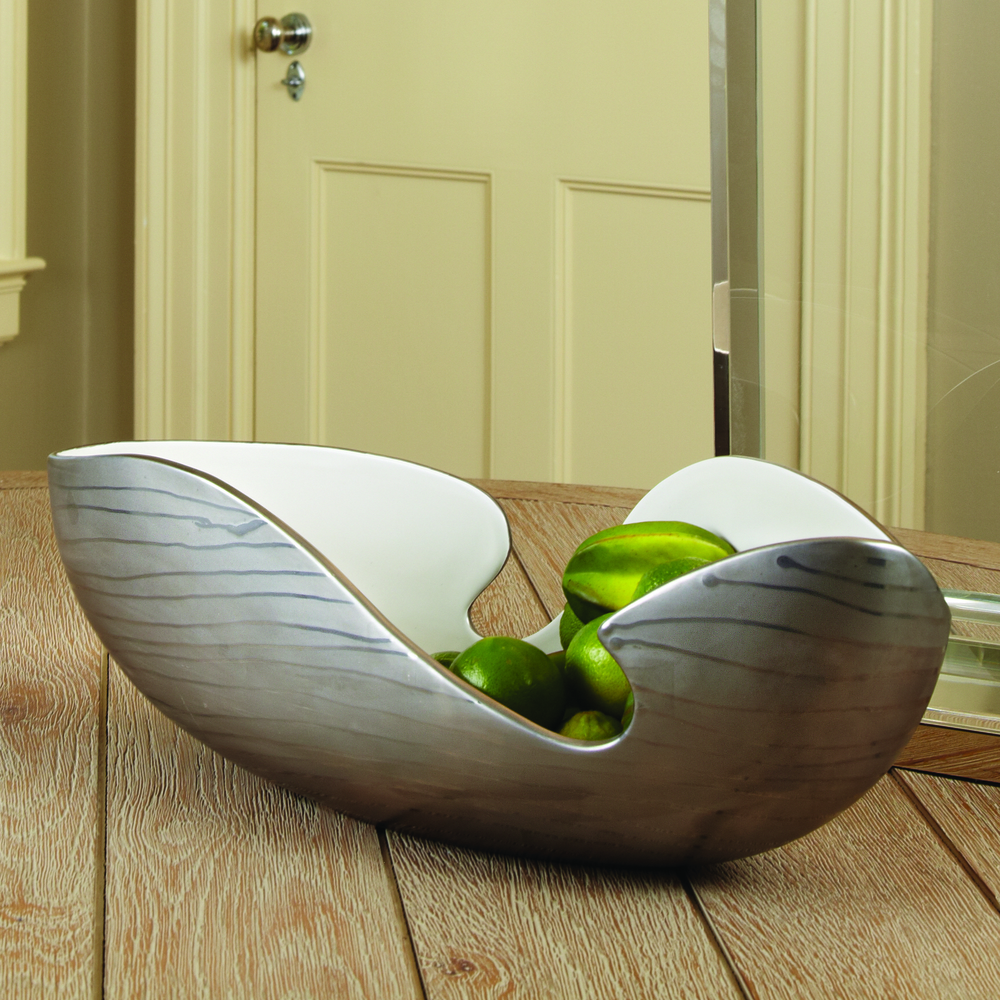 Global Views - Platinum Stripe Bowl